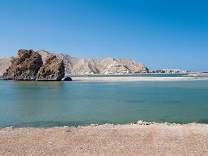 Lagunenbereich an Omans Küste (Foto: M. Gabriel)